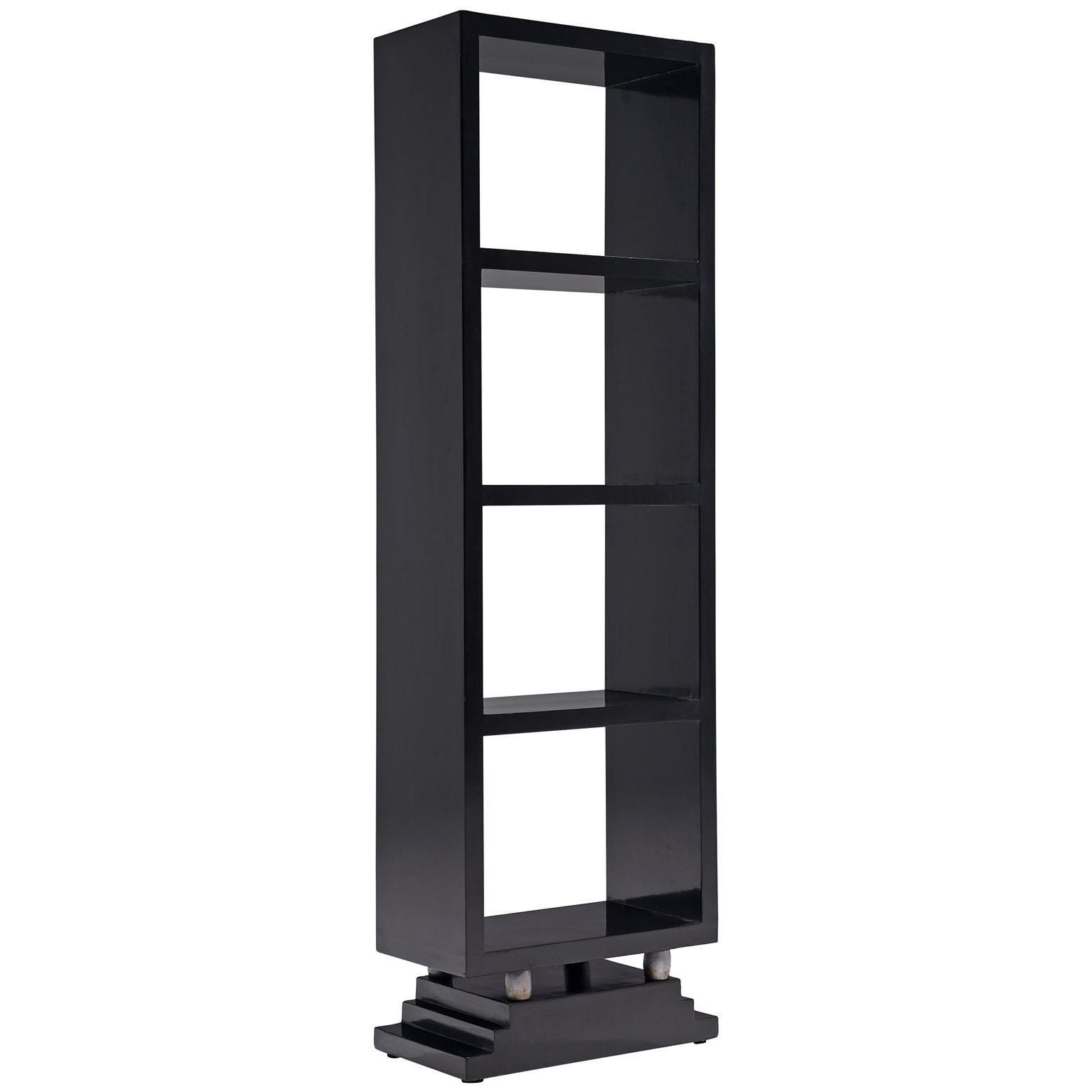 Five Italian Black Bookcases 1950s
