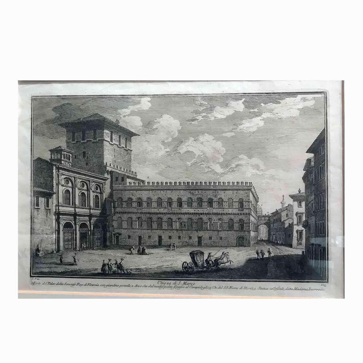 G Vasi Corleone.Five Italian Grand Tour Etchings Rome Views By Giuseppe Vasi 18th Century