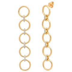 Five Loop Drop Earrings, Gold, Ben Dannie