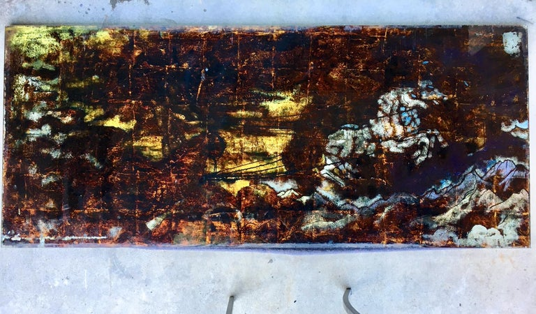 Five Midcentury Eglomisé Glass Paintings with Mythological Scenes For Sale 6