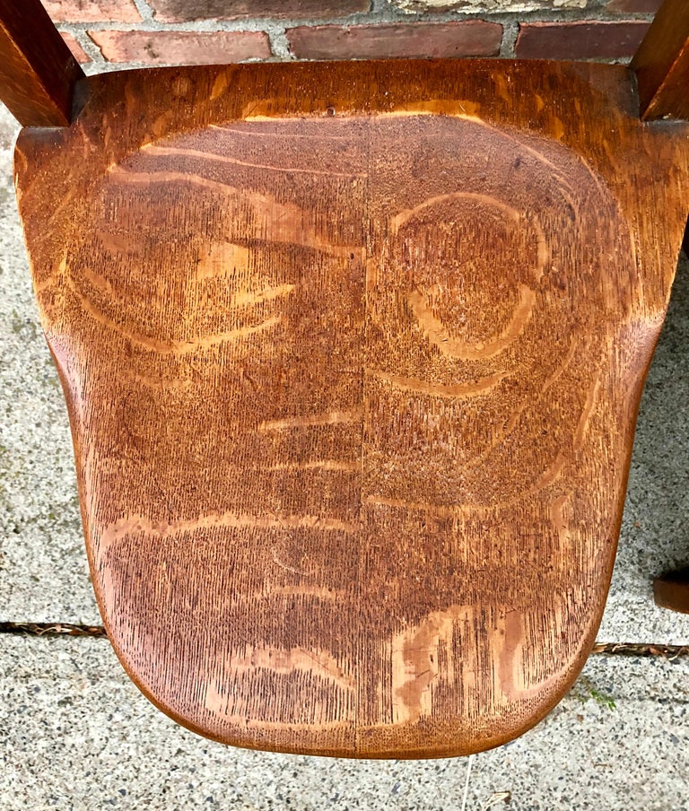 American Five Oak Arts and Crafts Children's Stool/Chairs For Sale