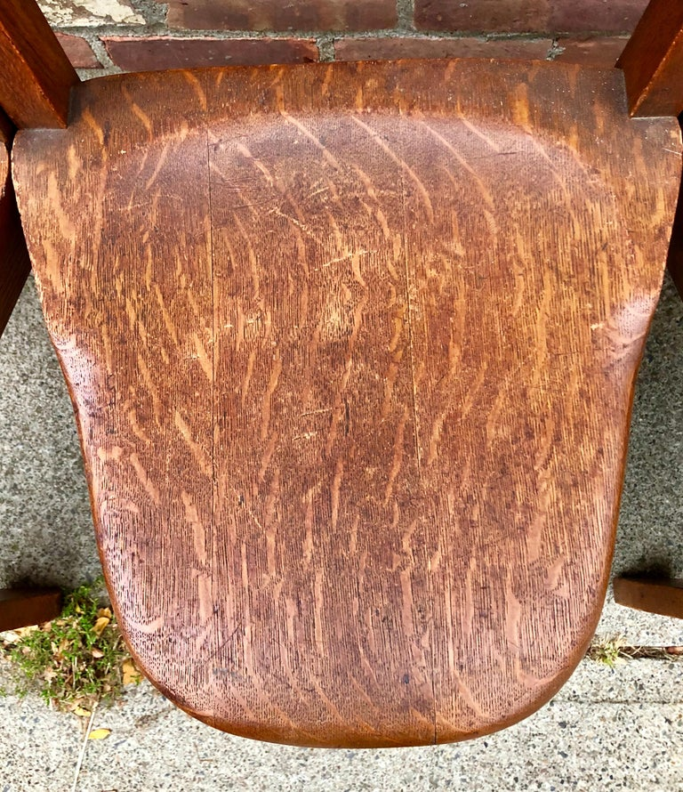 20th Century Five Oak Arts and Crafts Children's Stool/Chairs For Sale