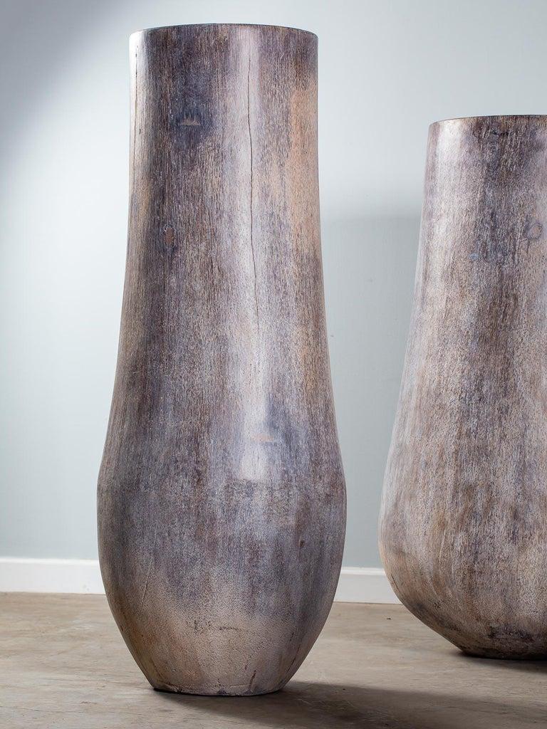 Five Organic Modern Palmwood Tree Sculptures Sumatra Indonesia For Sale 4