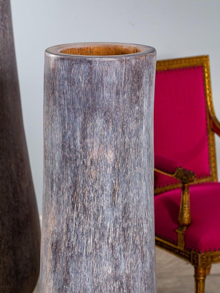 Five Organic Modern Palmwood Tree Sculptures Sumatra Indonesia For Sale 6