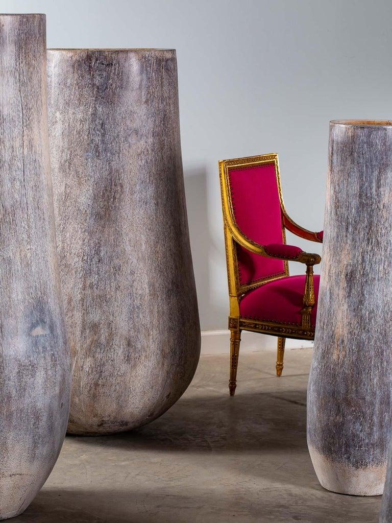 Five Organic Modern Palmwood Tree Sculptures Sumatra Indonesia For Sale 8