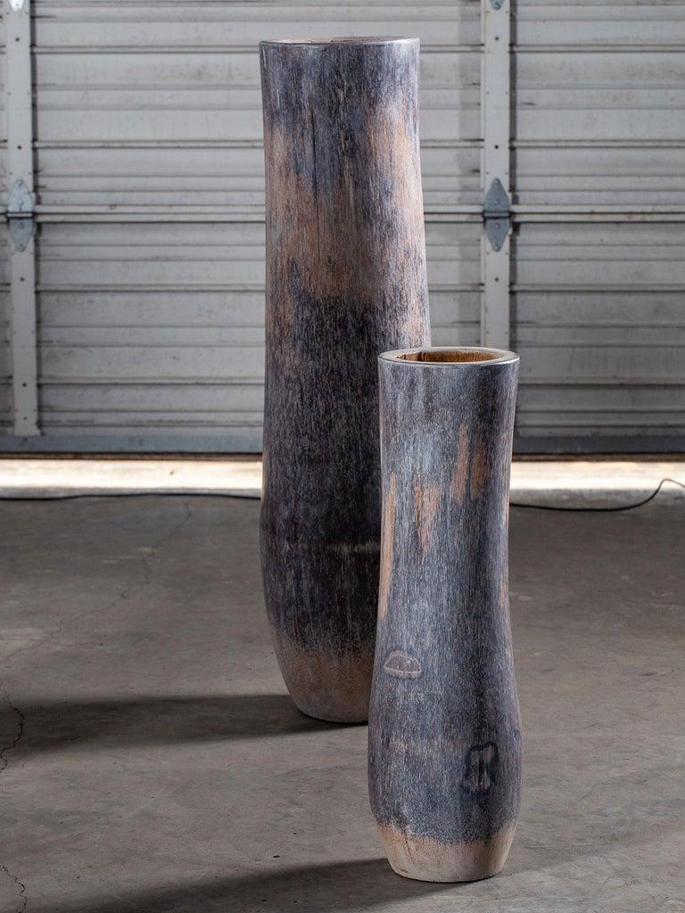 Five Organic Modern Palmwood Tree Sculptures Sumatra Indonesia For Sale 9