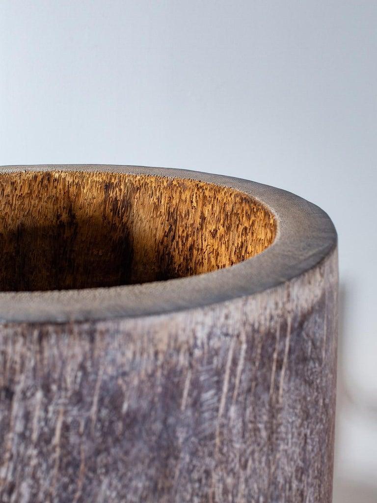 Five Organic Modern Palmwood Tree Sculptures Sumatra Indonesia For Sale 12