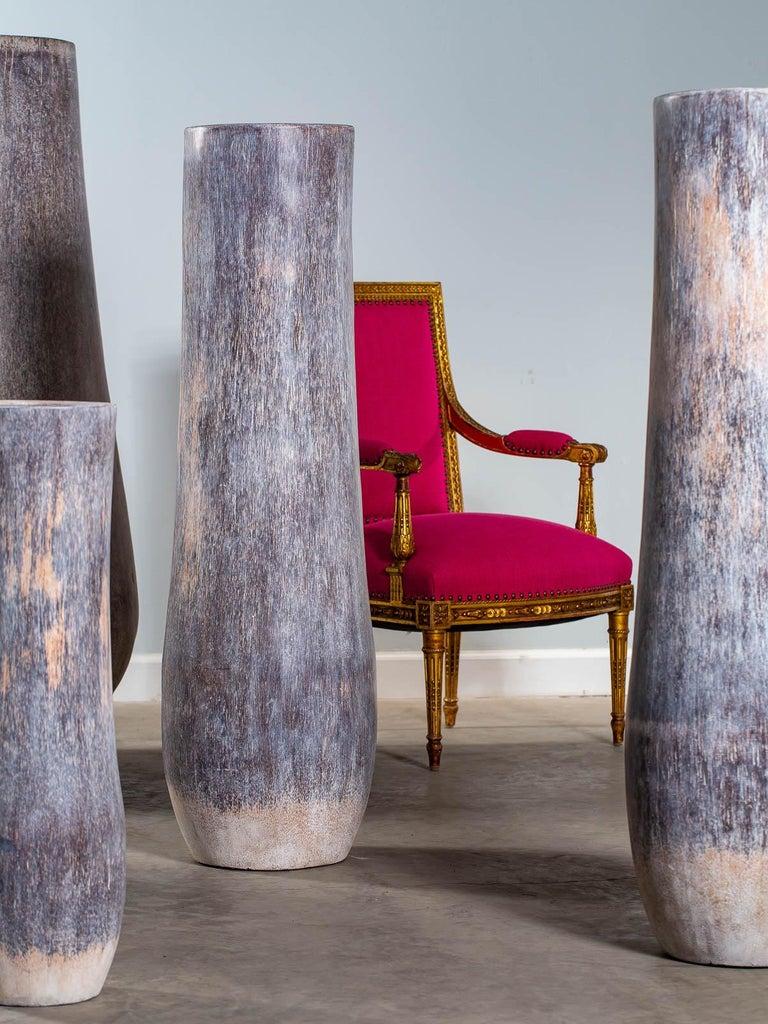 Contemporary Five Organic Modern Palmwood Tree Sculptures Sumatra Indonesia For Sale
