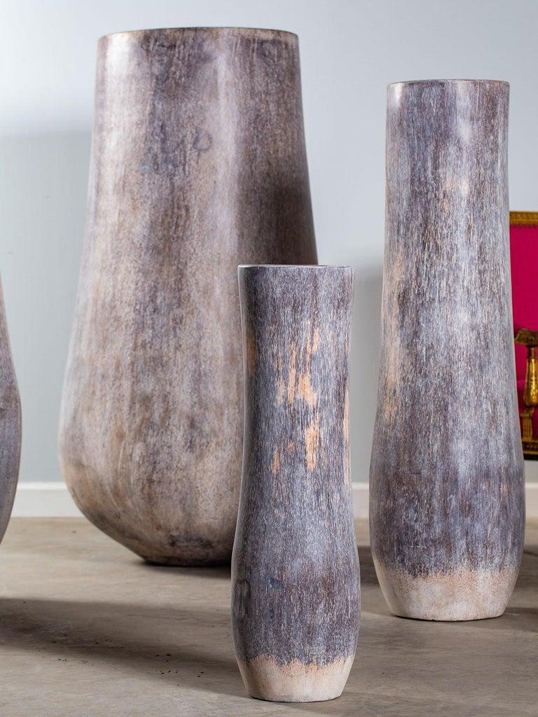 Five Organic Modern Palmwood Tree Sculptures Sumatra Indonesia For Sale 2