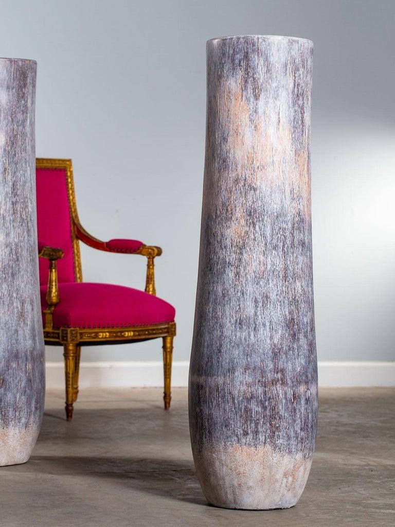 Five Organic Modern Palmwood Tree Sculptures Sumatra Indonesia For Sale 3