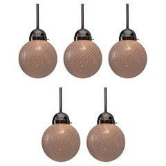 Five Pendants by Venini, Italy, circa 1960s