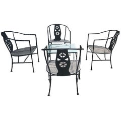 "Five-Piece Black ""Montego"" Patio Set"
