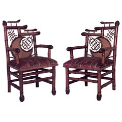 Five-Piece English Victorian Bamboo Salon Set