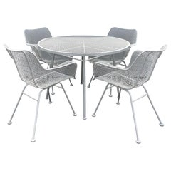 Five Piece Patio Dining Table and Chairs by Russell Woodard