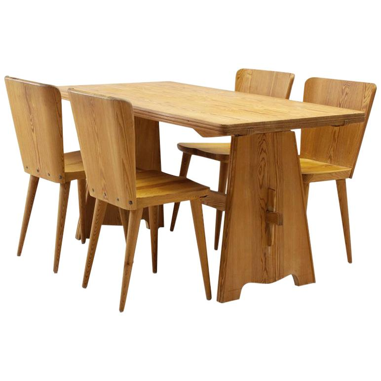 Attirant Five Piece Pine Dining Set By Goran Malmvall For Karl Andersson U0026 Söner,  Sweden