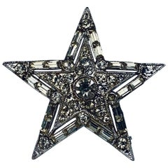Five Pointed Rhinestone Brooch-1950's