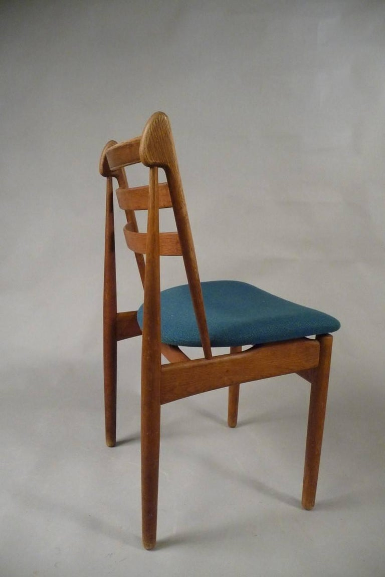 Danish Five Refinished Poul Volther Dining Chairs in Oak, Choice of Upholstery For Sale
