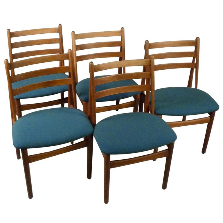 Five Refinished Poul Volther Dining Chairs in Oak, Choice of Upholstery For Sale