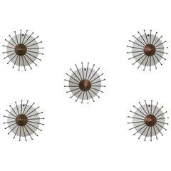 Five Sconces by Angelo Lelli for Arredoluce