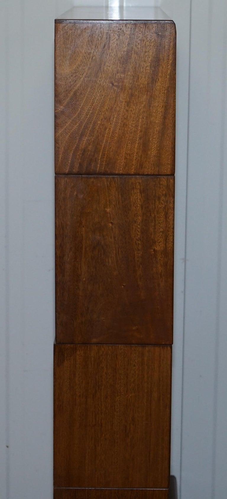 Five Section 1960s Simplex Medium Oak Stacking Legal