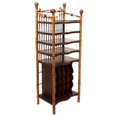 Five Shelf Bamboo Etagere