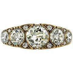 Five-Stone Old European Cut Diamond Ring
