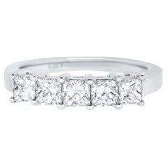 Five-Stone Princess Cut Diamond Band