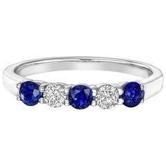 Five-Stone Sapphire and Diamond Band Ring