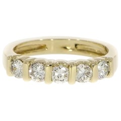 Five Stones Diamond Yellow Gold Ring