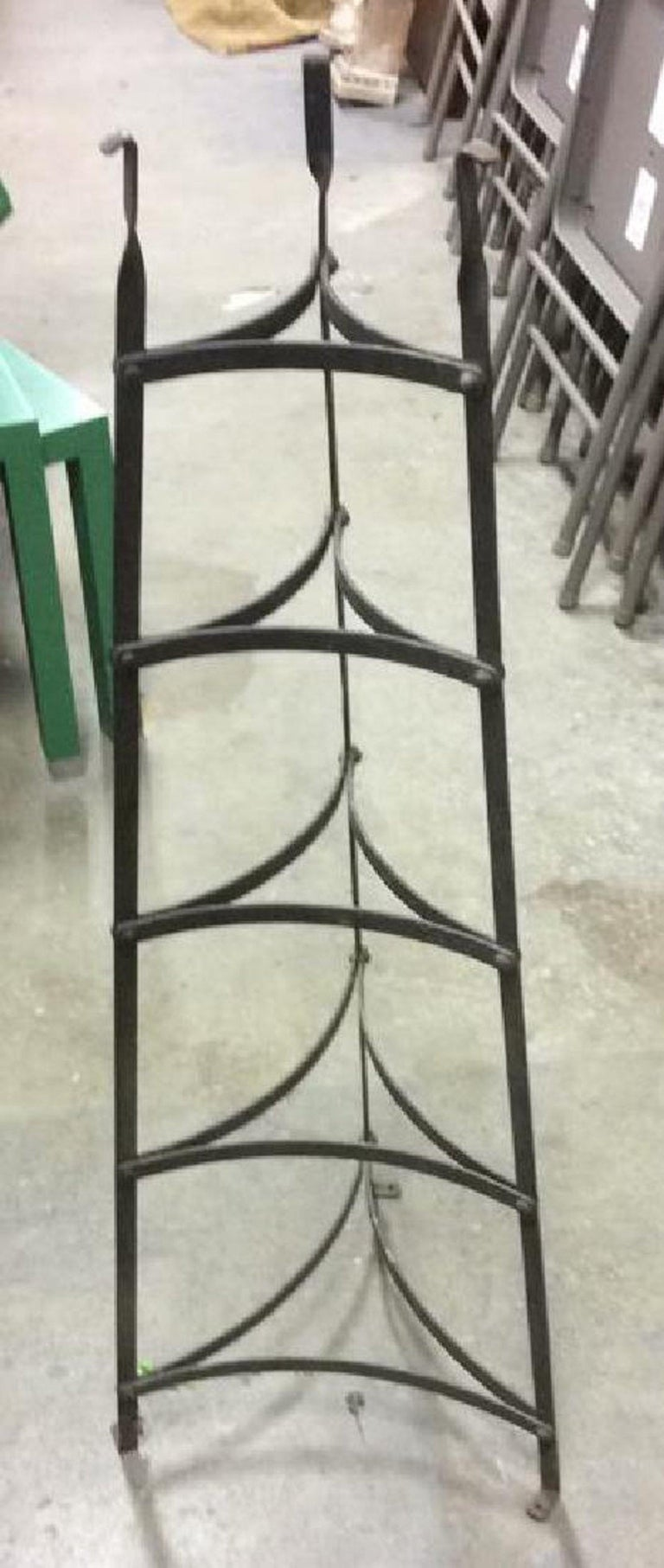 French Provincial Five-Tier Metal Plant Stand or Plate/Pot Rack For Sale