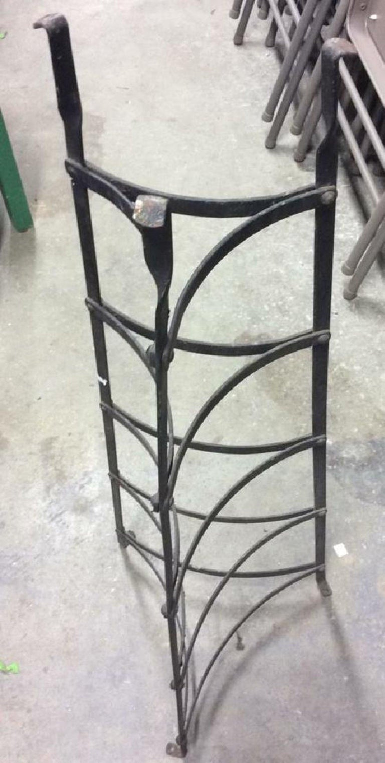 French Five-Tier Metal Plant Stand or Plate/Pot Rack For Sale