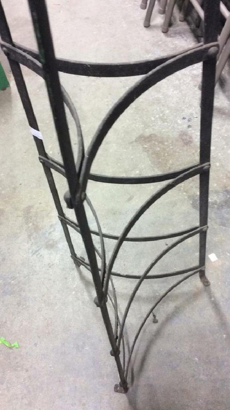 20th Century Five-Tier Metal Plant Stand or Plate/Pot Rack For Sale