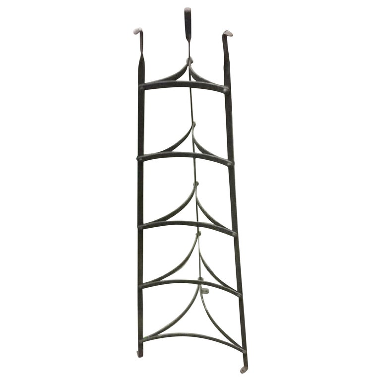 Five-Tier Metal Plant Stand or Plate/Pot Rack For Sale