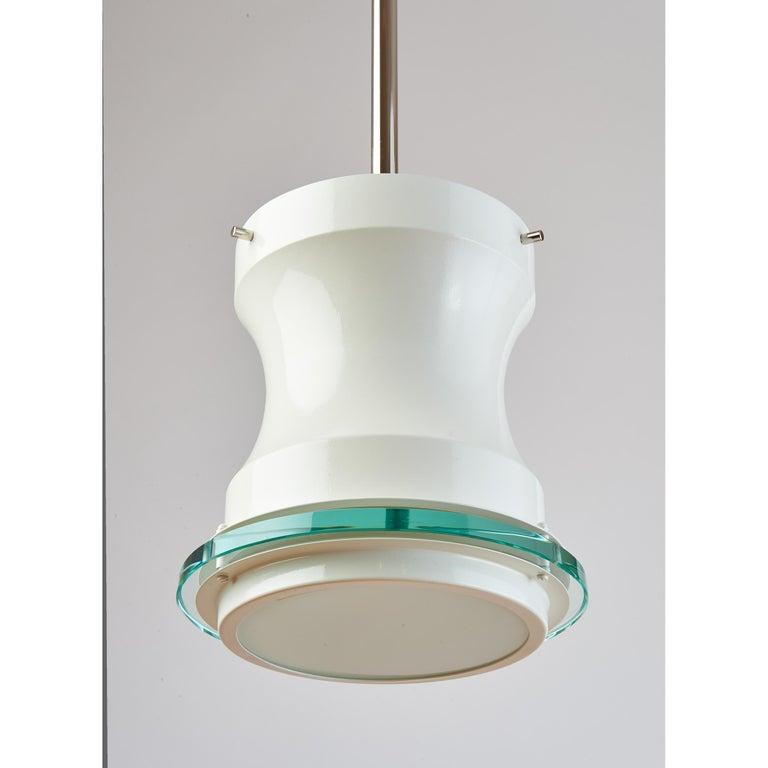 Mid-Century Modern Five White Stilnovo Lanterns, Italy, 1960s For Sale