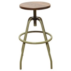 """Fixed Studio Work Stool"" in Reed Green by Makr"