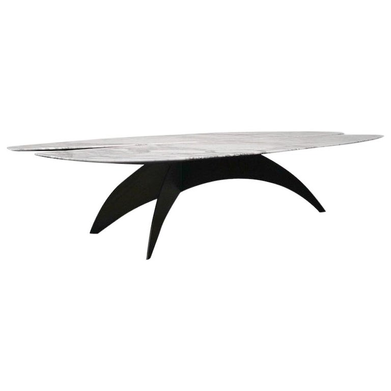 Fjaril Coffee Table, Marble and Steel by Atra For Sale