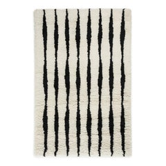 Fjord, Wool Shaggy Berber Rug in Scandinavian Design