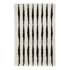 Fjord, Wolliger Shaggy Berber-Teppich im skandinavischen Design