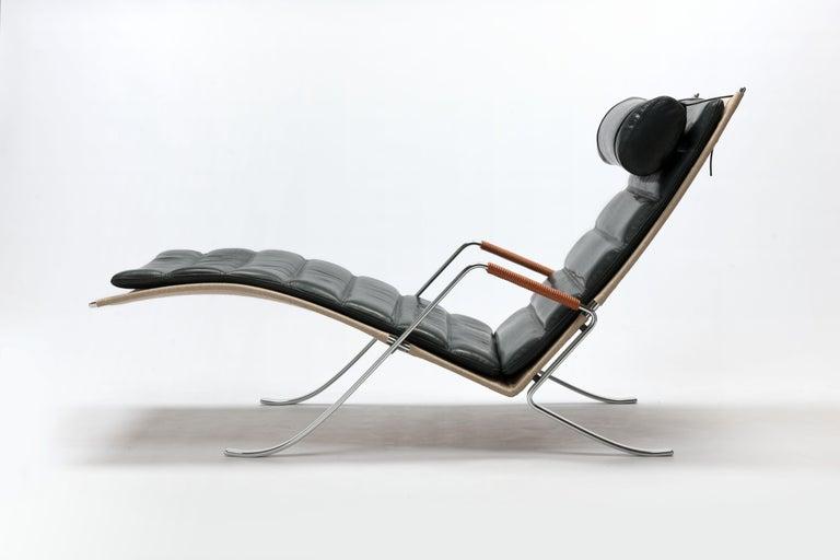 FK Grasshopper Lounge Chair by Jorgen Kastholm & Preben Fabricius For Sale 5