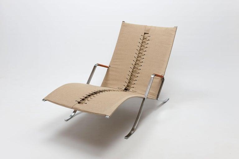 Steel FK Grasshopper Lounge Chair by Jorgen Kastholm & Preben Fabricius For Sale