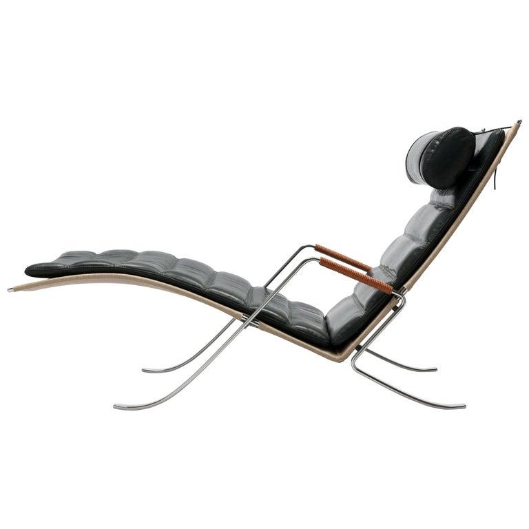 FK Grasshopper Lounge Chair by Jorgen Kastholm & Preben Fabricius For Sale
