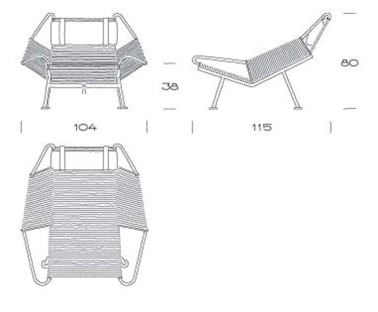Danish Flag Cream Halyard Lounge Chair, by Hans J. Wegner from PP Mobler For Sale