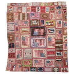 Flag Flannel Quilt with Sateen Backing