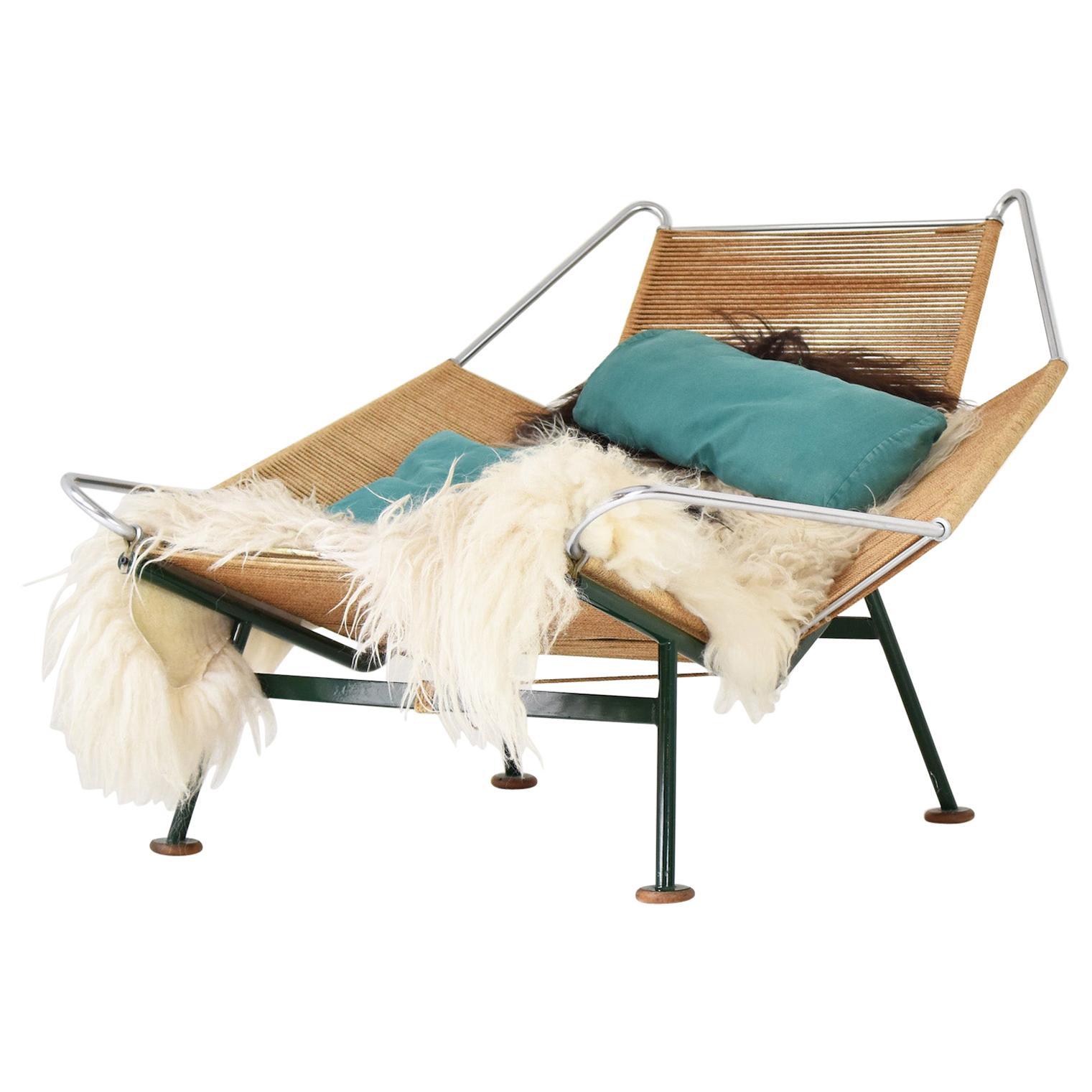Flag Halyard GE225 Easy Chair by Hans J. Wegner for GETAMA, Denmark, 1950s