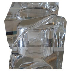 Flair Edition Big Decorative Box in Clear Lucite, Italy, 2021