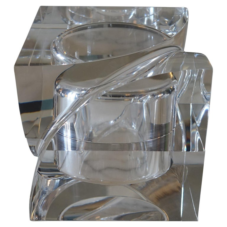 Flair Edition Big Decorative Box in Clear Lucite, Italy, 2021 For Sale