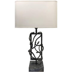 Flair Edition Brutalist Steel Snake Table Lamp
