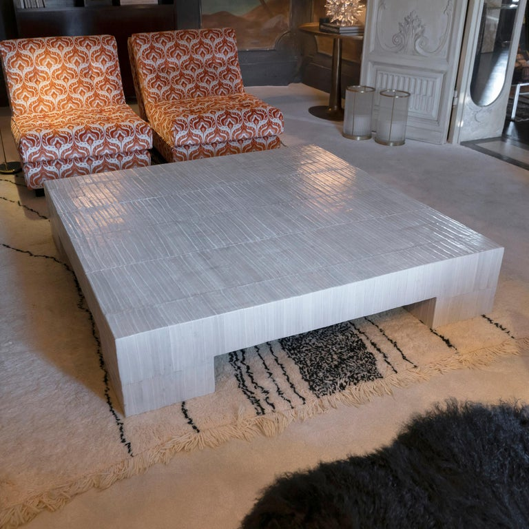 Flair Edition Ivory Eel Skin Coffee Table, Italy, 2020 4
