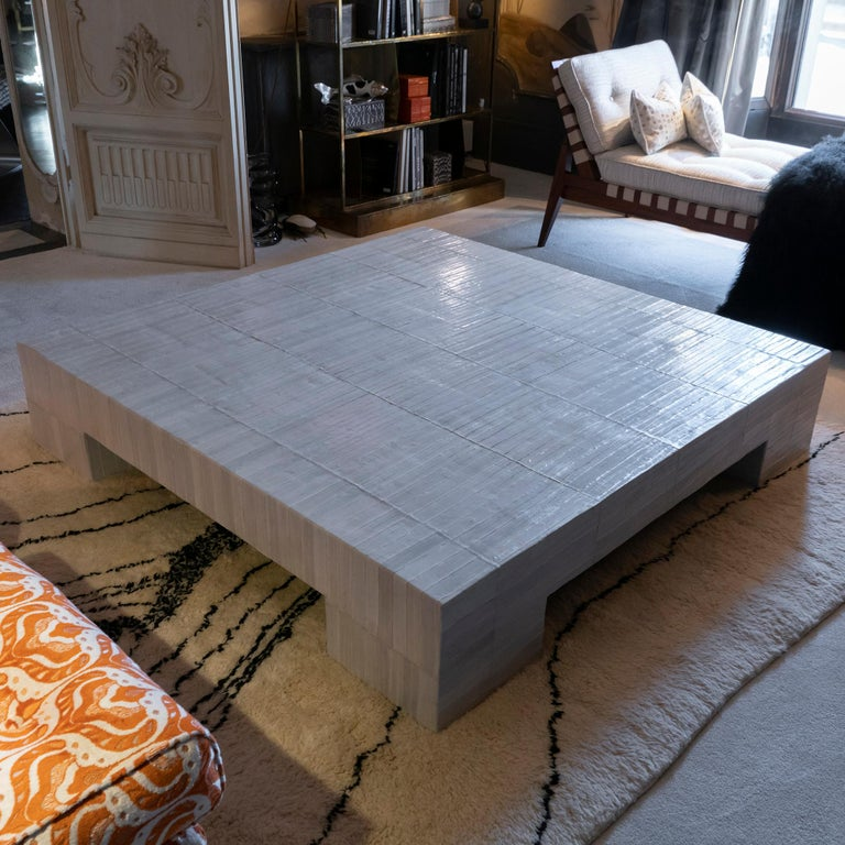 Flair Edition Ivory Eel Skin Coffee Table, Italy, 2020 5