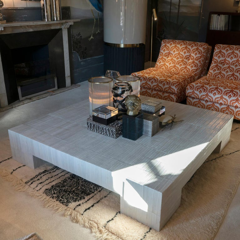 Flair Edition Ivory Eel Skin Coffee Table, Italy, 2020 6